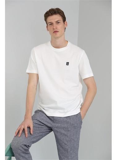 Lufian James Modern Grafik T- Shirt  Beyaz